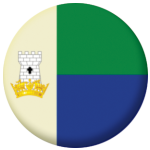 Portland Town / City Flag 25mm Pin Button Badge